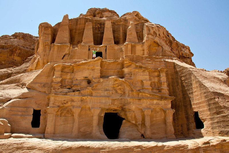 Petra was built by the Nabataeans, pre-Roman Arabs, who located Petra, their capital, as far away from other covilization as possible.