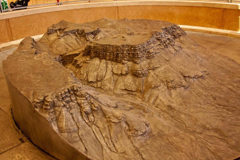 Scale model of Masada