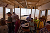 Interior of the cable car, hotter than hell!