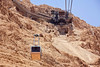 From the cable car, nearing the entrance to Masada
