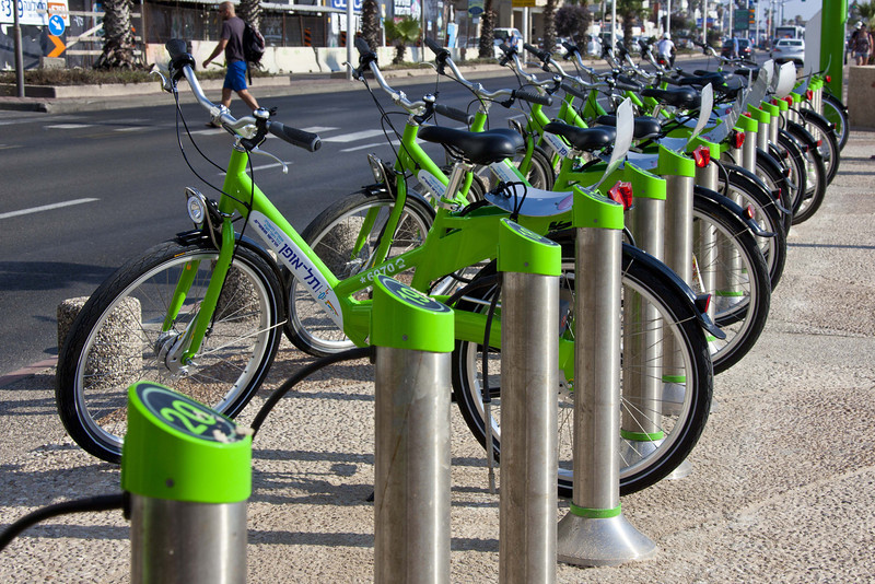 Bike rentals. A very new experiment and seemingly popular. I don't know how the system works.