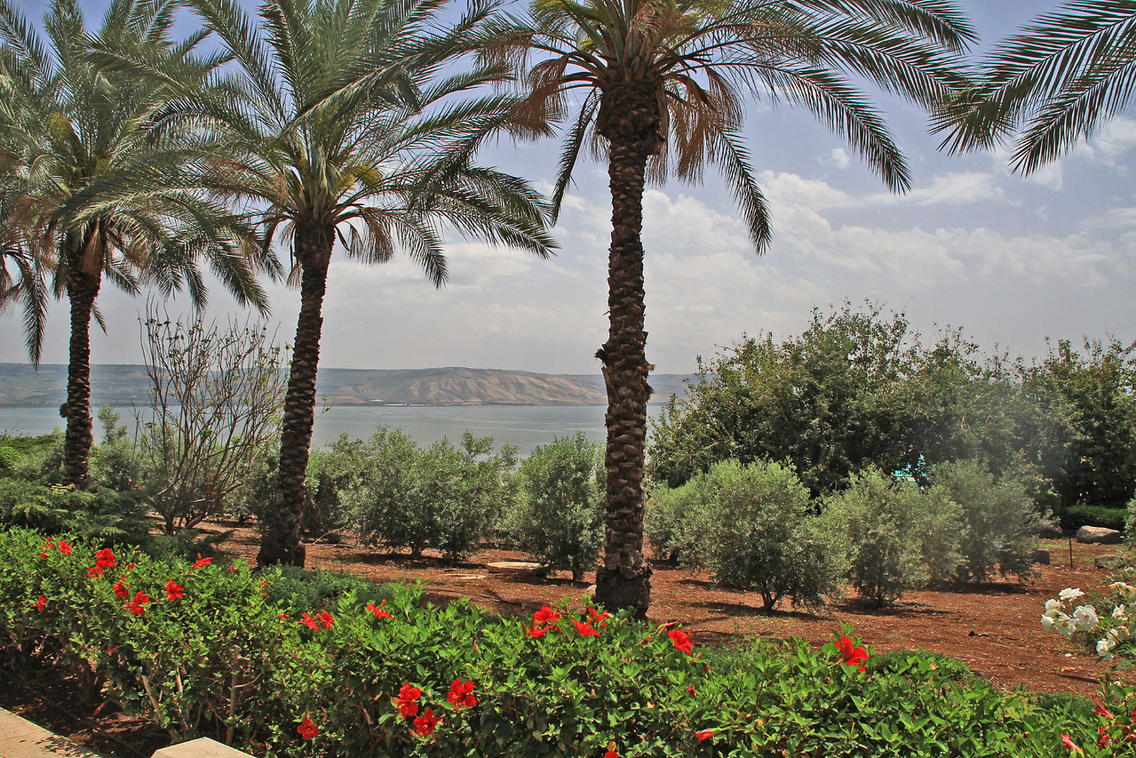 Sea of Galilee from Mount of the Beatitudes