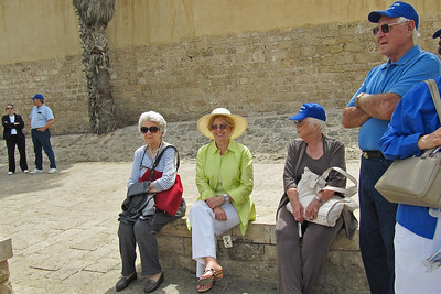 Waiting for Our Bus After Lunch in Jaffa