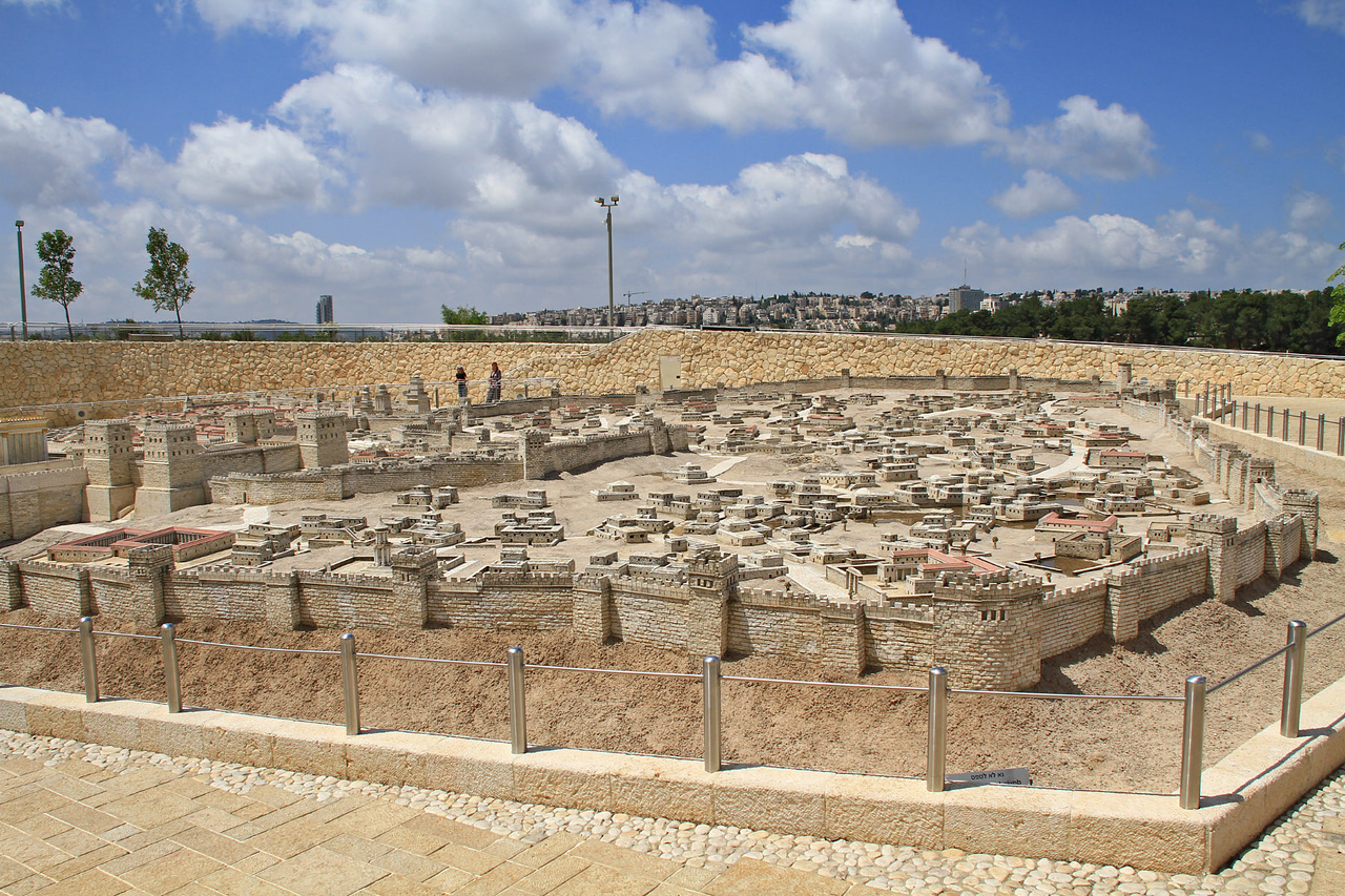 Israel Museum - Model of Jerusalem at time of Second Temple