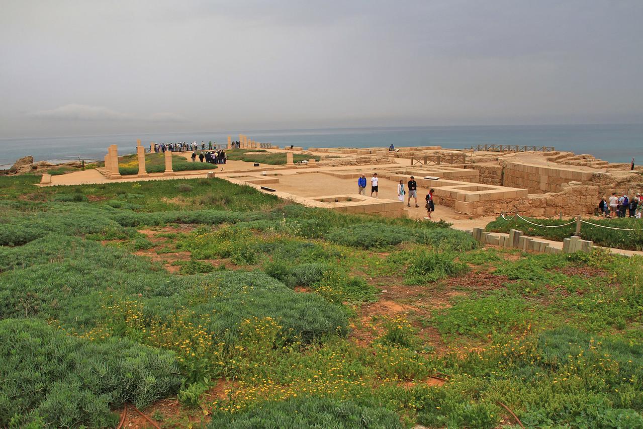 Caesarea - Building Dedicated to Emperor Tiberius
