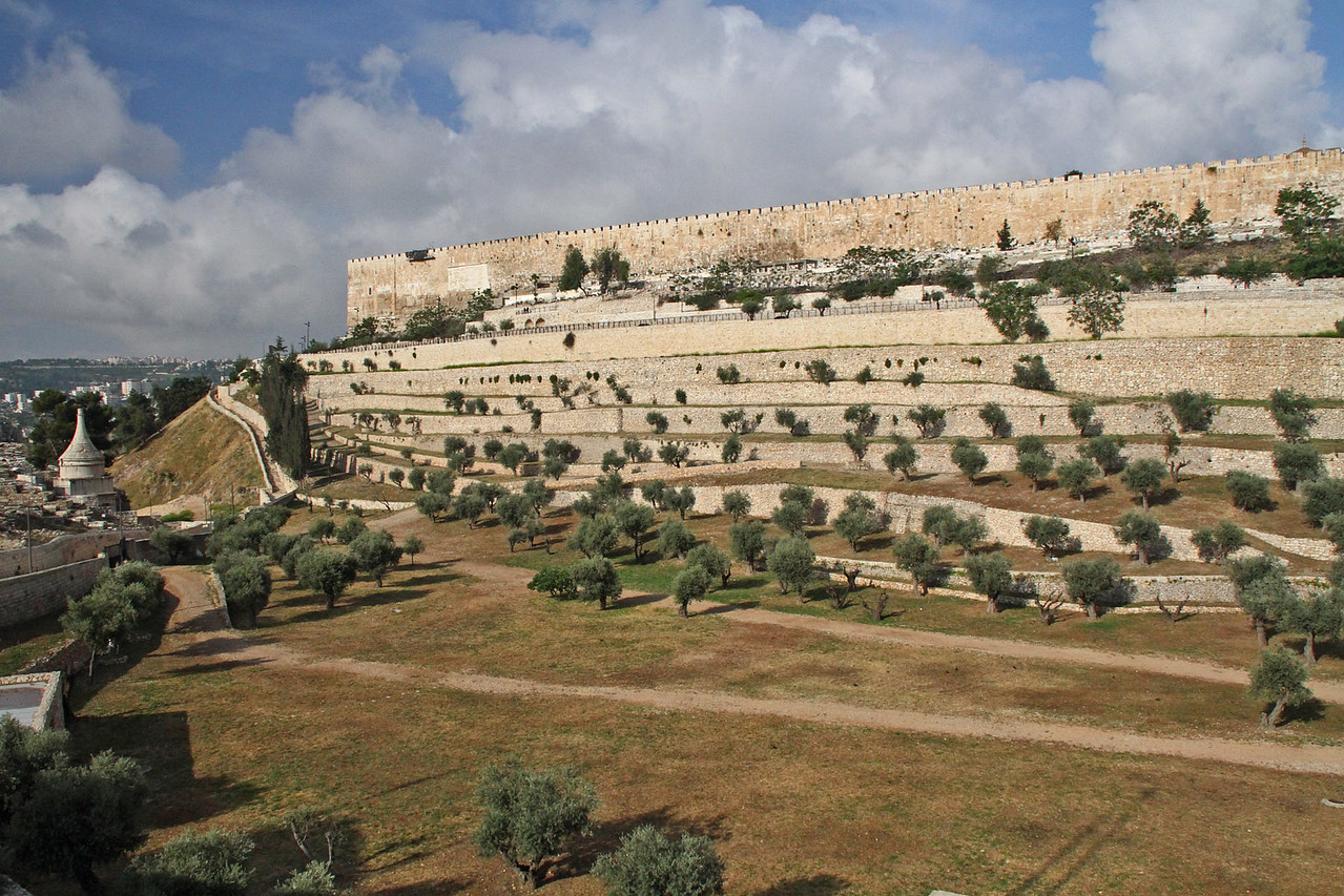 Mt. of Olives Overlook - Kidron Vallew & Eastern Wall