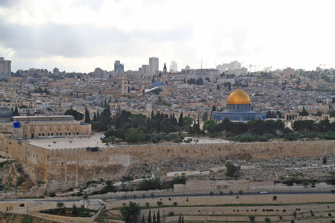 Mt. of Olives Overlook - Old Temple Mount