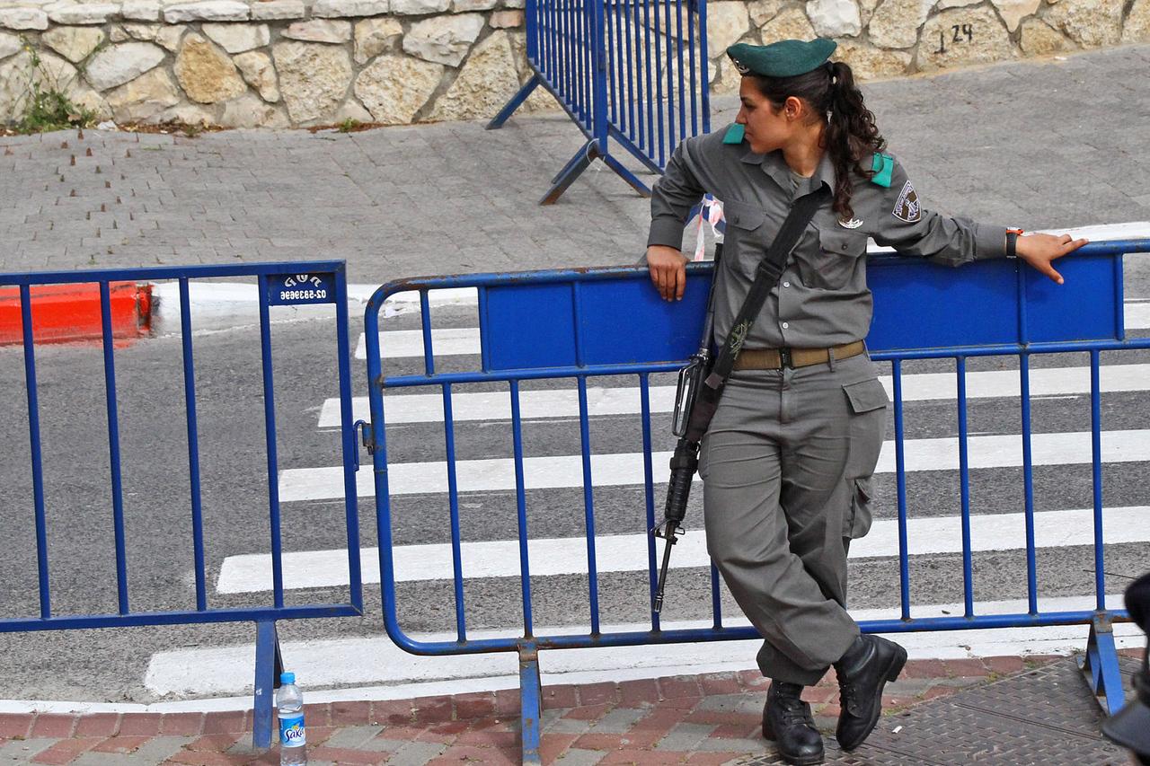 Lady Israeli Soldier