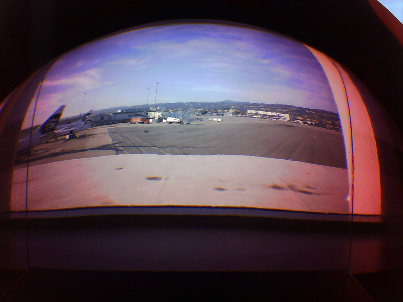 SFO, red color lens....