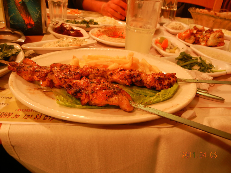 Israeli Food, Grill Chicken, The Old Man And The Sea Restaurant, Jaffa, Israel