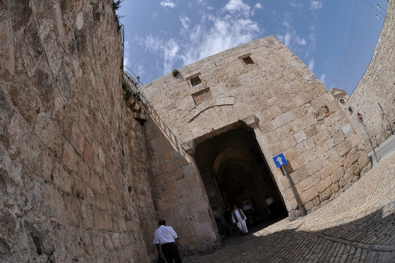 Exit Zion Gate, Old City Jerusalem, Israel