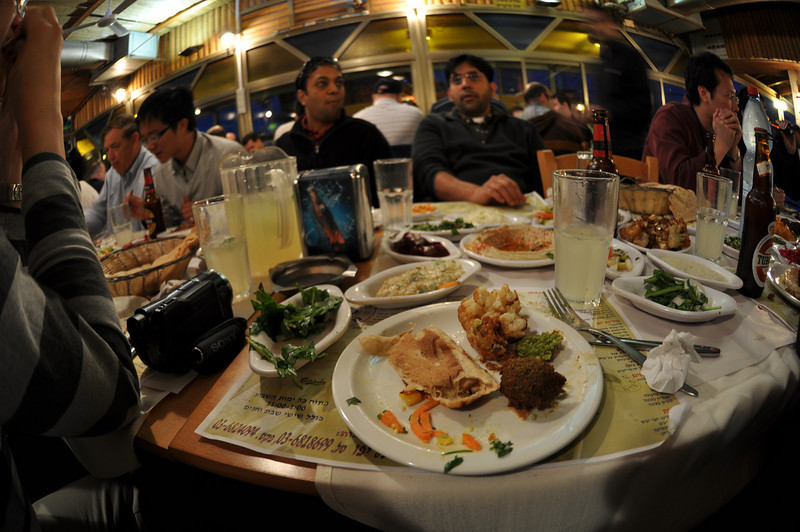 Isreali Food, The Old Man And The Sea Restaurant, Jaffa, Israel