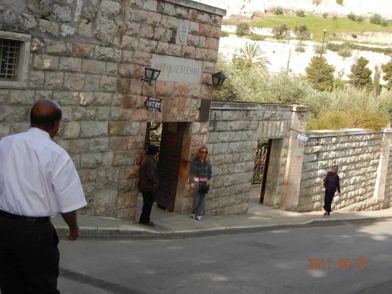 Entrance to Garden of Gethsemane, Jerusalem, Israel