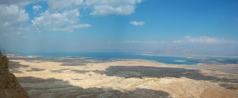 The Dead Sea. Photo taken from Masada, Israel.