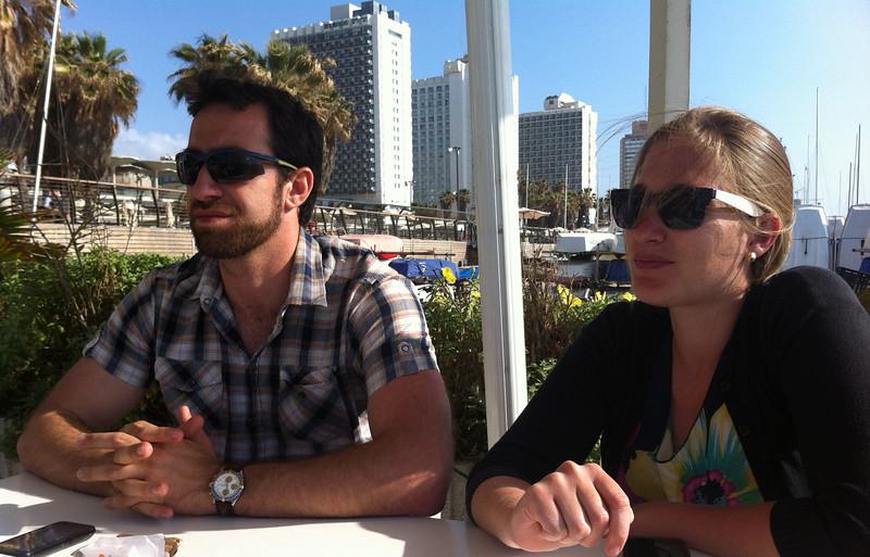Doron and Michael in Tel Aviv.