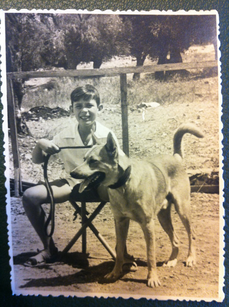 Dad and his dog. Circa the late 50s?