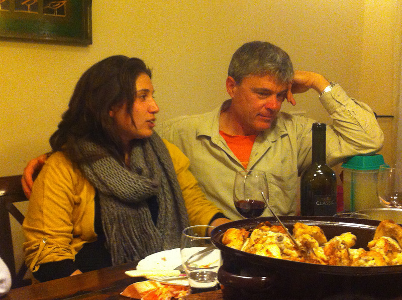 Rotem and her dad, and a ton of food. Shabat shalom.