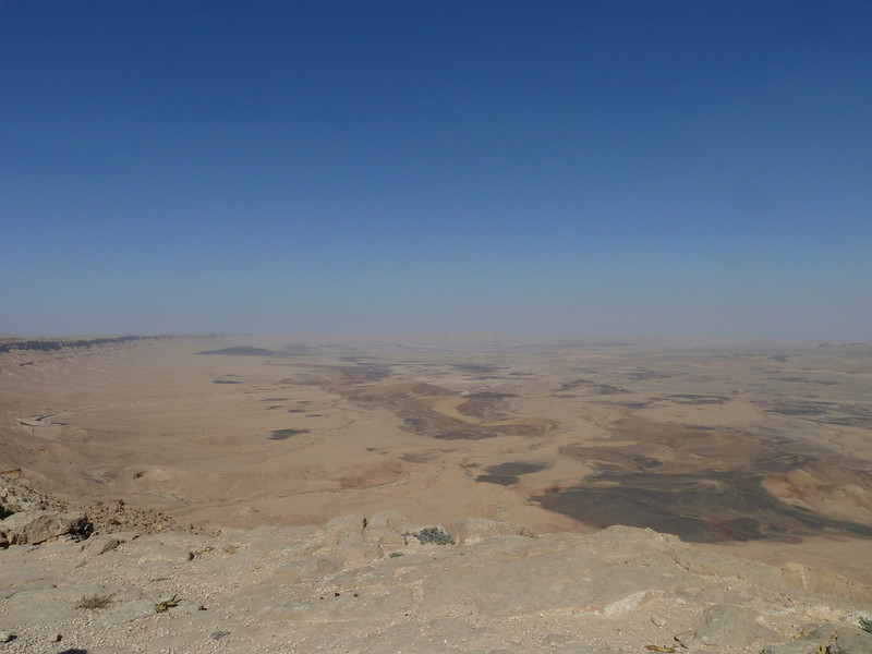 Mizpe Ramon - an enormous crater caused by erosion (not impact). That was once an ocean!