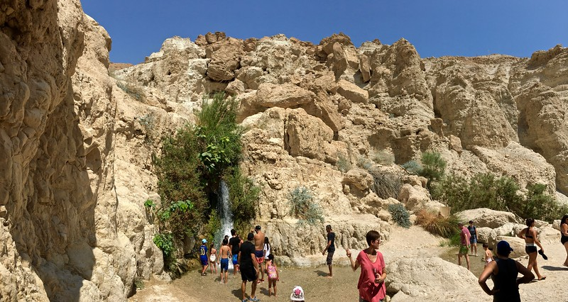 David's Waterfall. Cissa's favorite spot on the trip.