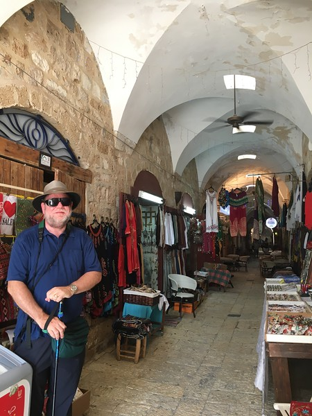 "Through the secret tunnel, we emerged into an Arabian souk. With ""Whipping Post"" by the Allman Brothers playing!"