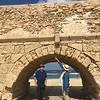 Aqueduct beach near Caesarea.