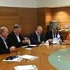 Trilateral signing ceremony: David (BGU), Bruce (UA), Juan Manuel (UNAM), Danny (BGU)