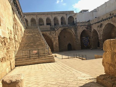 Crusader's castle in Akko (Acre). Vengefully buried by a victorious sultan, so it was preserved for hundreds of years. Just uncovered recently.