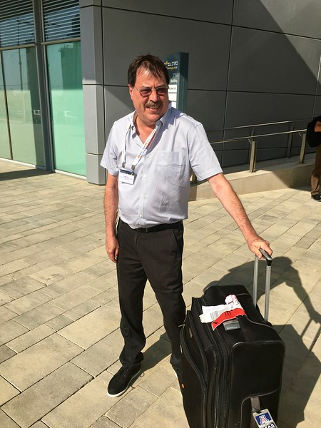 Jose finally got his luggage! (Lost by El Al, six days earlier)