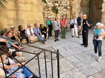 The group on the Cardo, ancient street of the Roman period, in Jerusalem