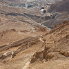 "View of the ""Snake Path"" up to the top of Masada"