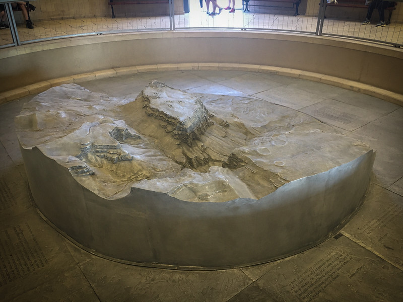 Model of Masada - where the Jewish Zealots made their last stand in 73AD.