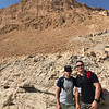 Seth and Christopher on the Snake Path down from the summit of Masada