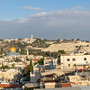 Panorama from the top of the Tower of David museum looking east over the Old City to the Mount of Olives