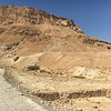 Looking back at Masada from the lower end of the Snake Path