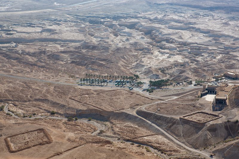 Ruins of Roman camps below Masada.