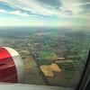 English countryside coming into Heathrow.