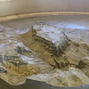 Close up of model of Masada