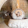 Grinding stone in the Nazareth Village olive press