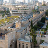 Looking over the Jaffa gate to the walls of the Old City (crusader era construction)