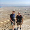 Dan and Christopher on the Snake Path down from the summit of Masada