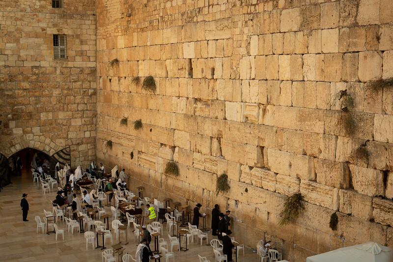 The western (wailing) wall in Jerusalem