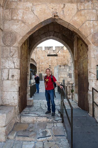 Seth at the Tower of David museum (crusader era building)