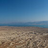 Panorama looking NE from Masada out over the Dead Sea