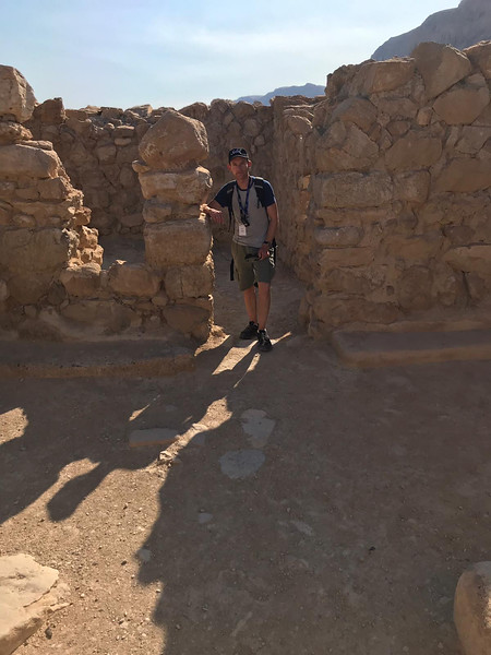 Seth in ruins at Qumran