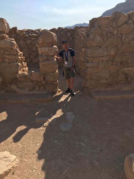 Seth in ruins at Qumran