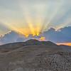 Sunset over the Judean wilderness at Wadi Qelt