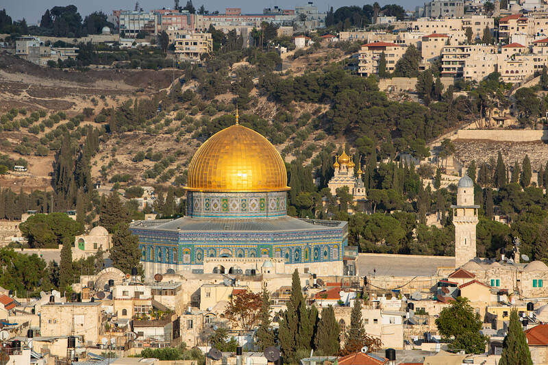 The Dome of the Rock from the top of the Tower of David museum