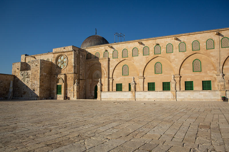 The eastern side of the Al-Aqsa mosque on the temple mount