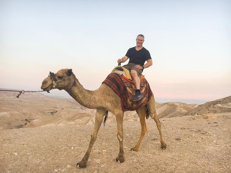 Camel ride at Wadi Qelt