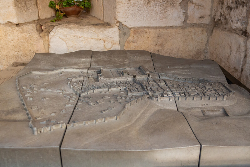 Relief map of the temple in the Second Temple period